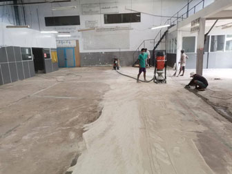Concrete Grinding And Polishing At Hlaing Thar Yar Industrial Zone (3)